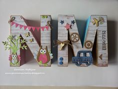 Easy Crafts, Diy And Crafts, Crafts For Kids, Arts And Crafts, Cardboard Letters, Diy Letters, Alphabet Beads, Letter Beads, Initial Crafts
