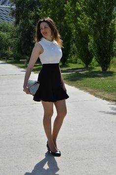 White and Black Dress http://oneusefashion.wordpress.com/2014/05/21/white-black-dress/