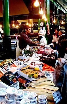 Fish Stall, Borough Market, London by amandajaneblue.