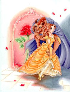 Most original title. Beauty and the Beast is my favorite movie. Beauty and the Beast Disney Princess Facts, Disney Princess Drawings, Princess Art, Disney Facts, Beauty And The Beast Art, Beauty And The Best, Walt Disney, Disney Love, Punk Disney
