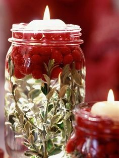 Winter Wonderland wedding - DIY cranberry mason ja -