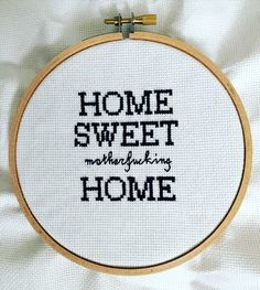 Subversive Home Sweet Motherfucking Home by NeedleLovesThreads