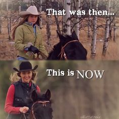 Amy & Spartan then & now Heartland Actors, Heartland Quotes, Heartland Ranch, Heartland Tv Show, Heartland Seasons, Ty Y Amy, Inspirational Horse Quotes, Nerf Birthday Party, Horse Riding Quotes
