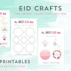 Eid crafts!  Free printables are up on the blog alhamdulillah ☺️