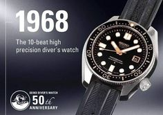 elginjael shared a photo from Flipboard Fancy Watches, Vintage Watches, Cool Watches, Wrist Watches, Seiko Mod, Seiko Diver, Seiko Watches, 50th Anniversary, Omega Watch