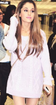 Ariana Grande: The girl who you end up falling in love with; because everything about her is so lovely. -Ella xx