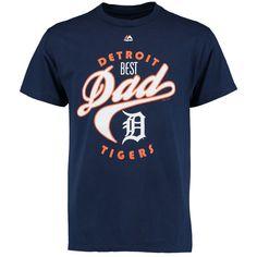 Detroit Tigers Majestic Best Dad T-Shirt - Navy - $16.99