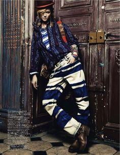 EDITORIAL - Boyfriend em leitura étnica e chic na Vogue Paris - Notícias - Guia JeansWear : O Portal do Jeans