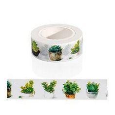 Washi tape, masking tape, ruban adhésif scrapbooking plante grasse