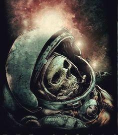 Space Mystery ┼ Дом № 666 ┼ - Astronaut Tattoo, Sci Fi Kunst, Arte Sci Fi, 70s Sci Fi Art, Skull Artwork, Dead Space, Dark Tattoo, Dark Art, Zombies