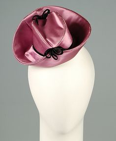 Cocktail doll hat  Pary Goodfellow  (American)  Date: ca. 1938 Culture: American Medium: Silk