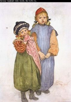 Image detail for -Carl Larsson Carpenter Hellberg-s Children oil painting picture