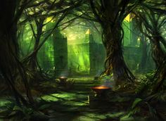 Fate Reforged Forest by Adam Paquette
