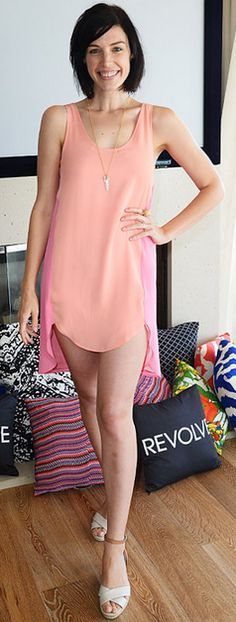 Who made Jessica Pare's pink dress?