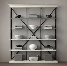Parisian Cornice Triple Shelving-love this for the wall between the kitchen and living room!!!