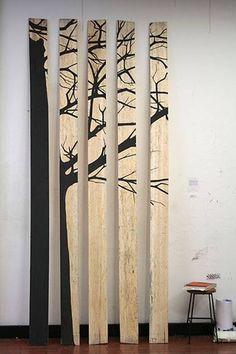 Arbol de tablones de madera/ Wooden planks tree  #recycle design