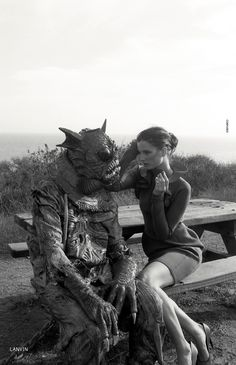 Ava Smith and creature by Marlene Marino for Dazed & Confused, September 2012