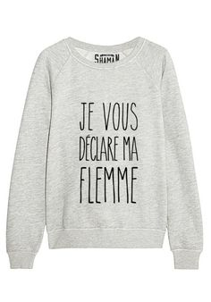 "Sweat ""Je vous déclare ma flemme"" - New Tutorial and Ideas Outfits Niños, Fashion Outfits, Sweat Original, Cool Shirts, Tee Shirts, Look Girl, Mode Style, Dress Codes, Hoodies"