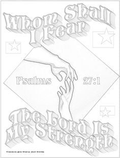Memory Verse Coloring Pages | Memory Verse Poster