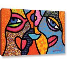 Steven Scott Eye To Eye Gallery-Wrapped Canvas, Size: 32 x 48, Blue