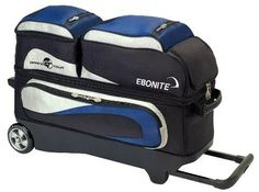 Ebonite Grand Tour Edition III Bowling Ball Bag, Navy/Silver by Ebonite. Save 29 Off!. $149.53. So radically advanced for its category, its innovative design has taken quality ball transportation to the next level. Every Grand Tour Series wheeled bag has Ebonite's exclusive wheel base, big 5 Inch x 2 Inch dual ball bearing wheels, an extendable lockable handle, and a separate shoe compartment for men's shoes up to size 15.