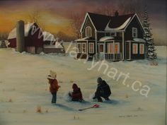 """Last Light of Day"" - Larry Hart Gallery Newfoundland, Print Artist, Limited Edition Prints, Larry, Oil On Canvas, Folk Art, Gallery, Artwork, Fun"
