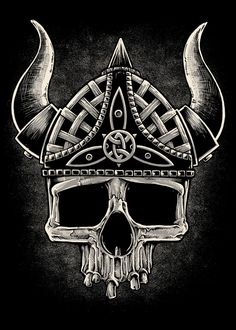 Viking Skull  by inkcorf