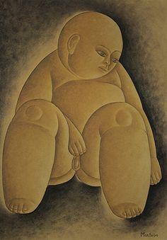 Menino déc. de 1920 | Vicente do Rego Monteiro óleo sobre cartão, c.i.d. 47.00 x 34.00 cm