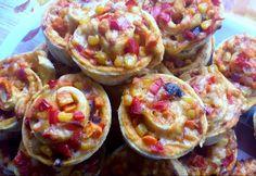 Zöldséges pizzás csiga teljes kiőrlésű liszttel Tacos, Food And Drink, Eggs, Mexican, Breakfast, Ethnic Recipes, Morning Coffee, Egg, Mexicans