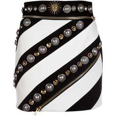 Fausto Puglisi Mini-Skirts (1 295 AUD) ❤ liked on Polyvore featuring skirts, mini skirts, gonne, black, embellished mini skirt, fausto puglisi, embellished skirt, mini skirt and short skirts