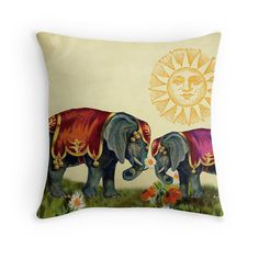 Elephant Gifts Elephant Cushion Elephant by PeggyCollinsPhotoArt