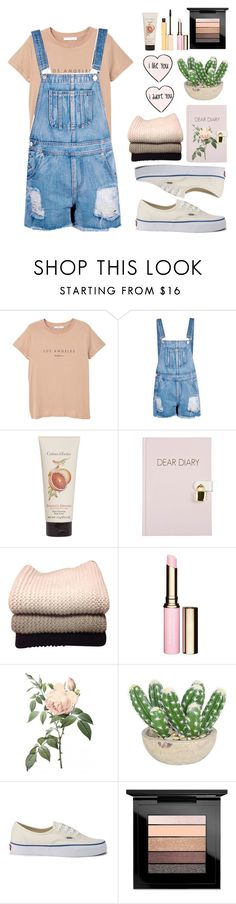 """""""Untitled #238"""" by luchiyoogi93 ❤ liked on Polyvore featuring MANGO, Boohoo, Crabtree & Evelyn, IRIS VON ARNIM, Clarins, The French Bee, Joie, Vans, MAC Cosmetics and Stila"""