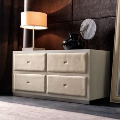 Designer Italian Silver leaf Bombe Chest at Juliettes Interiors, a large collection of Classical Furniture.