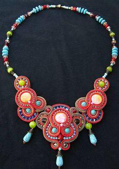 Makaresh redone Soutache necklace | Flickr: Intercambio de fotos
