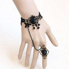 gorgeous Retro Vintage Rose Flower Bracelet with Finger Ring Lace Metal Vampire Accessories Wedding Decorations Classic Royal Court Palace Punk Rock Women Lady Girls Chain Wristband Jewelry Halloween Costume Ball Masquerade Decoratioins Gift  #Accessories #Ball #bracelet #Chain #Classic #Costume #Court #Decoratioins #Decorations #Finger #Flower #Gift #Girls #Halloween #Jewelry #Lace #Lady #Masquerade #Metal #Palace #Punk #Retro #Ring #Rock #Rose #Royal #Vampire #Vintage #Wedding #Women…