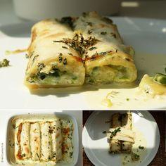 Cannelloni mit pürierten Oregano-Erbsen
