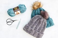 Learn how to make a crochet hat in this free beginner beanie crochet pattern and tutorial. This knit-looking crochet beanie is made from a simple rectangle, making it an easy, last-minute gift! Make using Lion Brand Wool Ease Tonal yarn from LoveCrochet.com.