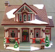 """Department 56 Snow Village American Architecture """"Bungalow"""" #56.55304 D56"""