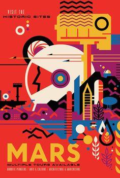 NASA Retro Space Travel Illustrated Posters – Fubiz Media