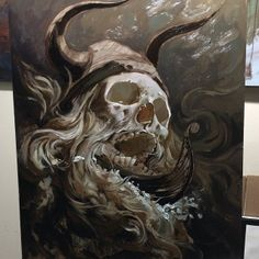 Painting in Progress by Tattoo Artist Carlos Torres