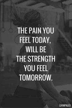 The pain you feel today, will be the strength you feel tomorrow. fitness motivation / workout quotes / gym inspiration / fitness quotes / motivational workout sayings Motivational Quotes For Depression, Motivational Words, Positive Quotes, Motivational Quotes For Working Out, Hard Working Quotes, Quotes On Hard Work, Motivational Workout Quotes, Motivational Quotes Wallpaper, Motivating Quotes