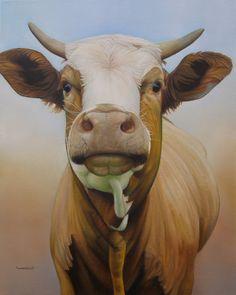 Sam Dolman Cow Animal Limited Edition Print by sdolman on Etsy