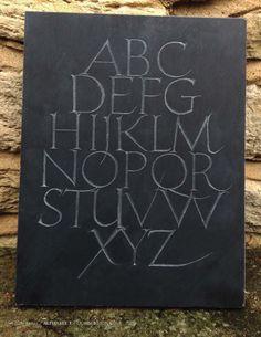 Jon Bush. Alphabet 1 slate 2014