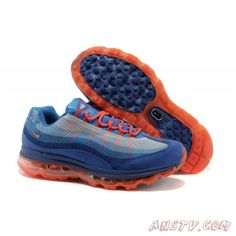cheap for discount c8274 98175 Air Max Femme Homme Nike Air Max 95 DYN FW - Royal Bleu   Orange Nike