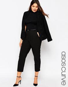 Image 1 - ASOS CURVE - Pantalon cigarette avec ceinture