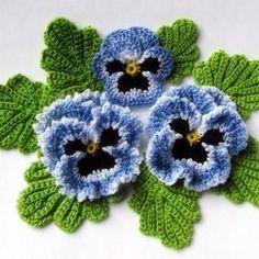 Beau Crochet, Crochet Puff Flower, Crochet Dollies, Crochet Flower Tutorial, Crochet Flowers, Irish Crochet Tutorial, Free Crochet Flower Patterns, Knitted Flower Pattern, Crochet Daisy