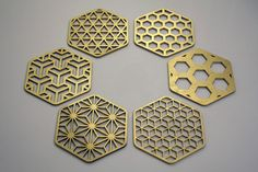 Sacred Geometry Hexagon Honeycomb Coasters by COZODesign on Etsy