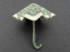 Hello, Up for sale is a beautifully crafted Origami Umbrella. It's made from a brand new 1 US bill. It makes a great novelty gift for that special someone in your life! Perfect for: Birthdays, Gradations, Ho. Origami Star Box, Origami Ball, Origami Love Heart, Origami Fish, Origami Stars, Origami Boxes, Origami Flowers, Dollar Bill Origami, Money Origami