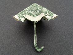 UMBRELLA Money Origami - Dollar Bill Art