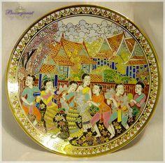 Benjarong decorative plate, Thailand